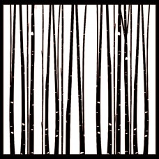 7 Dots Studio - Northern Lights - Through the Aspens Stencil