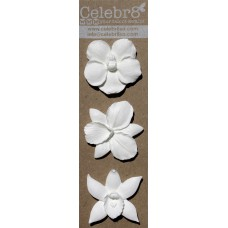 Celebr8 - Resin Embellishment - Orchids