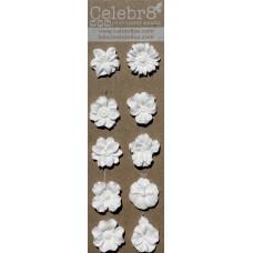 Celebr8 - Resin Embellishment - Small Flowers