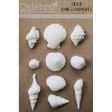 Celebr8 - Resin Embellishment - Shells