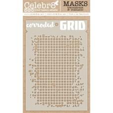 Celebr8 - Stencil - Corroded Grid
