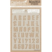 Celebr8 - Stencil - Grunge Alphabet