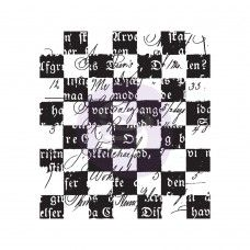 Prima - Clear Stamp - Checkered Texts