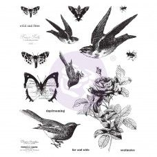 Prima - Cling Stamps - Wild And Free