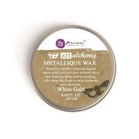 Prima - Art Alchemy - Metallique Wax - White Gold