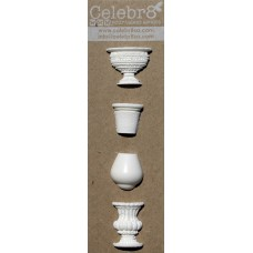 Celebr8 - Resin Embellishment - Flower Pots
