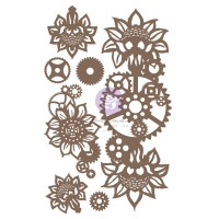 Prima - Decorative Chipboard - Machine Floral Decors