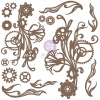 Prima - Decorative Chipboard - Mechanical Flourishes