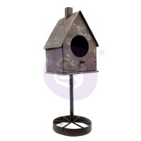 Prima - Altered Metal Frame - Tall Rusty Birdhouse