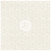 "Prima - Elementals - 12x12 White Resist Canvas ""Honeycomb"""