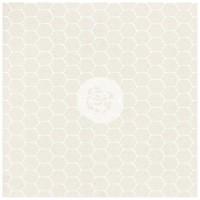 "Prima - Elementals - 12x12 White Resist Canvas ""Honeycomb"""