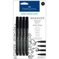 Faber-Castell - Mix & Match - Essential PITT Artist Pens - Black