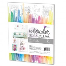 Prima - Watercolor Coloring Book - 8x10''