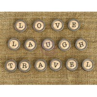 Prima - Mechanicals - Type Writer Words - Love, Laugh, Travel