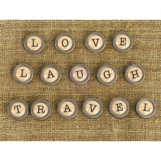 Prima - Mechanicals - Type Writer Words - Love, Laugh, Travel