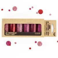 Prima - Art Ingredients - Glitter Set - Crimson