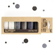 Prima - Art Ingredients - Glitter Set - Ebony & Ivory