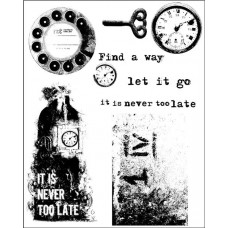 Prima - Cling Stamps - Never Too Late
