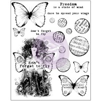 Prima - Cling Stamps - Don't Forget to Fly