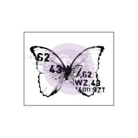 Prima - Mounted Stamp - Butterfly 3