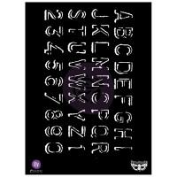 "Prima - Elementals - 7x9 Stencil ""Alpha"""
