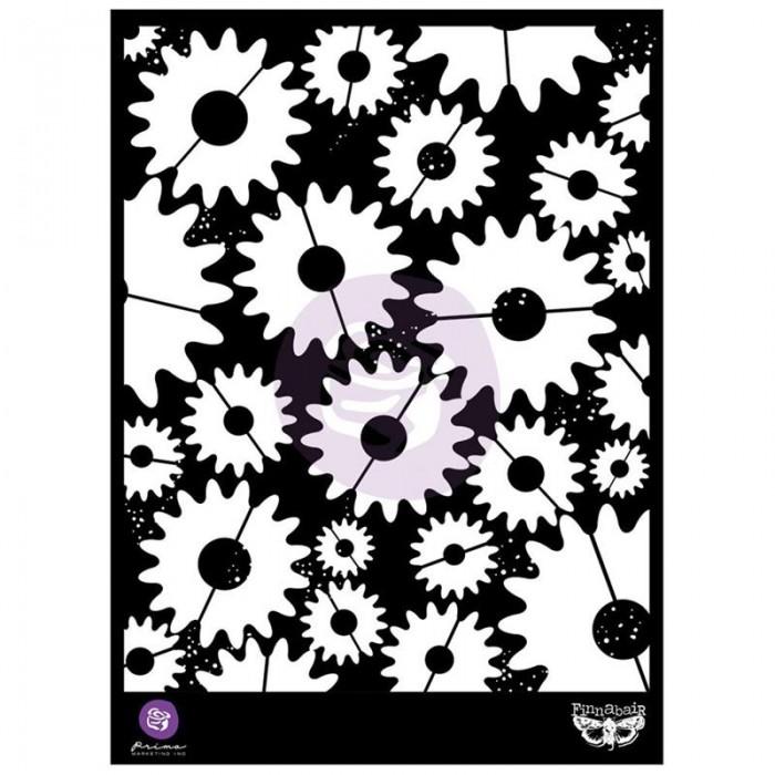 """Elementals Stencil Prima 6 x 9/"""" Swirly Florals Finnabair"""