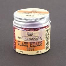 Prima - Art Ingredients - Glass Beads - Ruby