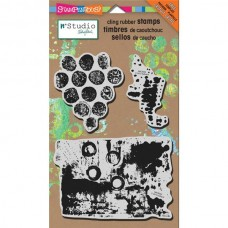 "N*studio Cling Rubber Stamp 5"" x 8"" - Grunge"