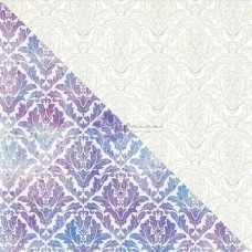 "Prima - Elementals - 12x12 White Resist Canvas ""Damask"""