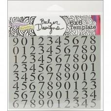 TCW - 6x6 Stencil - Numbers