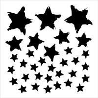 TCW - 6x6 Stencil - Star Fall
