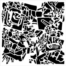 TCW - 6x6 Stencil - Rock Crystals
