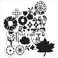 TCW - 6x6 Stencil - Postcard