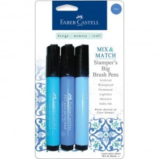 Faber-Castell - Mix & Match - Stamper Big Brush Pens - Blue