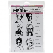Ranger - Dina Wakley 6''x9'' Cling Stamps - All the Gals