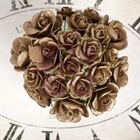 Prima - Sunrise Sunset - Paper Mini Roses - Gold