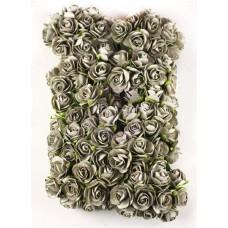 Prima - Paper Flowers - Light Gray Roses - 100 pcs