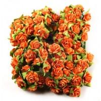 Prima - Paper Flowers - Orange Roses - 100 pcs