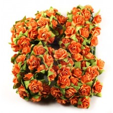 Prima - Paper Flowers - Orange Roses - 100 pcs