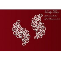 Scrapiniec - Doily Lace - Lace Borders 1 - 3pcs