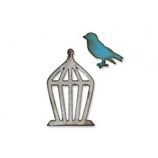 Sizzix - Magnetic Movers&Shapers - Mini Bird & Cage