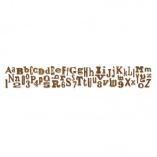 Sizzix - Sizzlits Decorative Strip - Alphabetical