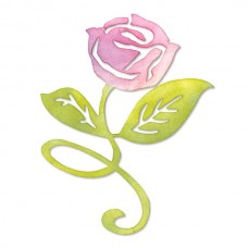 Sizzix - Sizzlits - Flower, Rose, Steam & Leaves