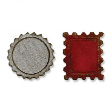 Sizzix - Magnetic Movers&Shapers - Mini Bottle Cap & Stamp