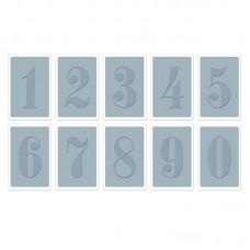Sizzix - Texture Trades Embossing Folders 10PK - Numbers