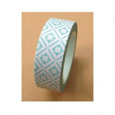Washi Tape - Aqua Tile