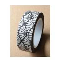 Washi Tape - Black and White Fans