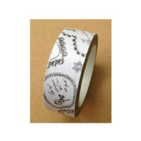 Washi Tape - Black and White Stamped