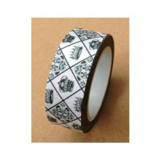 Washi Tape - Black and White Royalty