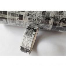 Washi Tape - Black and White Type - 15mmx5m